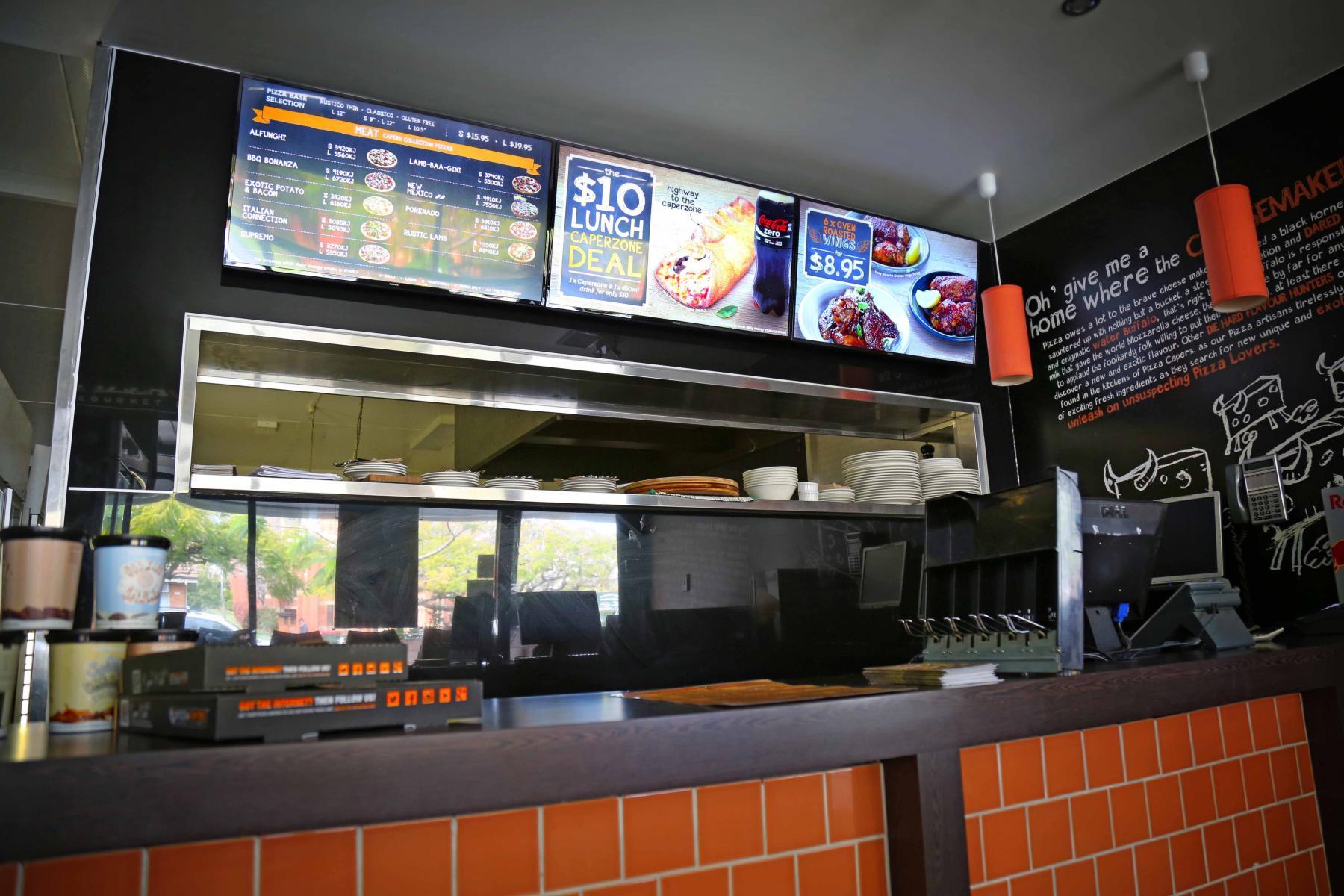 Pizza Capers Digital Menu Boards